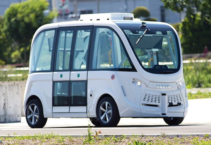 SBドライブ、自動運転バス調査委員会が実施する実証実験に 自動運転シャトルバス「NAVYA ARMA」を提供