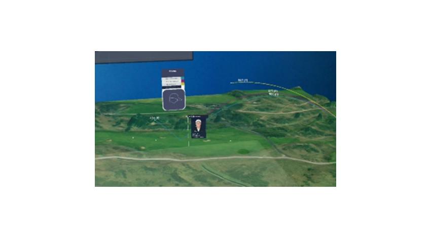 NTTデータ、全英オープンゴルフ試合データをAW3D地図上に再現