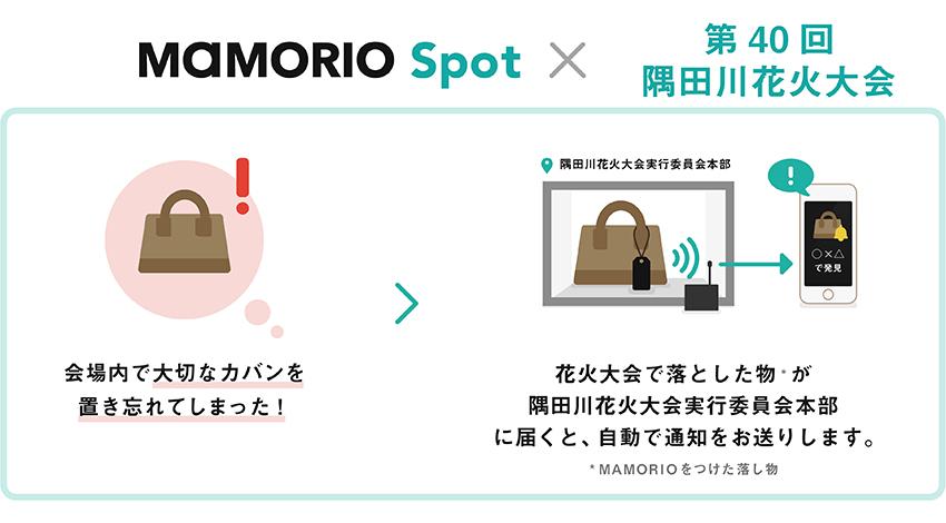 MAMORIO、第40回隅田川花火大会でIoT活用の忘れ物自動通知サービスを提供