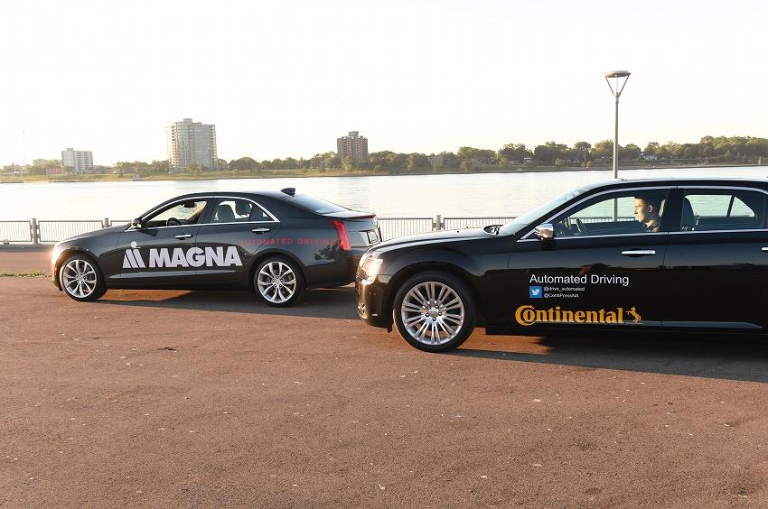 独コンチネンタルとカナダのマグナ・インターナショナル、米ミシガン州とカナダ・オンタリオ州の公道480キロで自動運転車の試験走行を開始