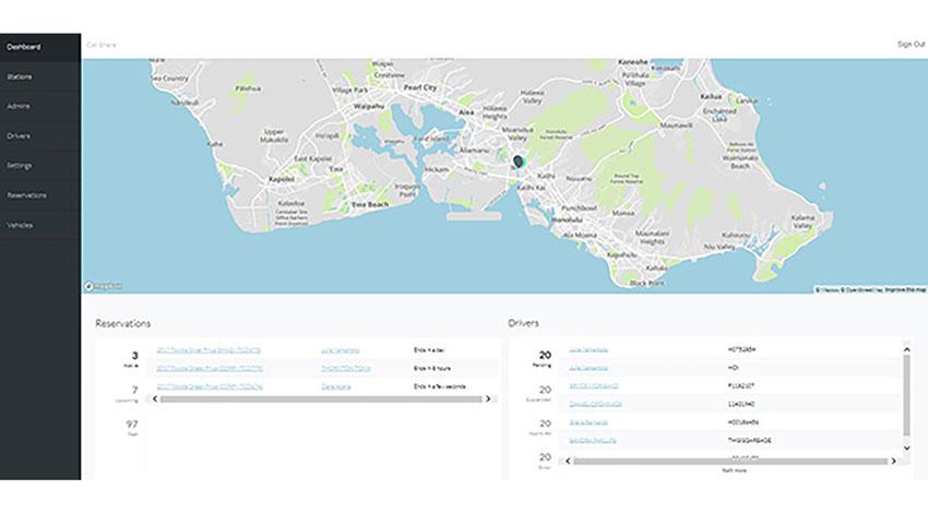 トヨタ、販売店向けカーシェア事業用アプリを開発し、米国ハワイ州で実証を開始