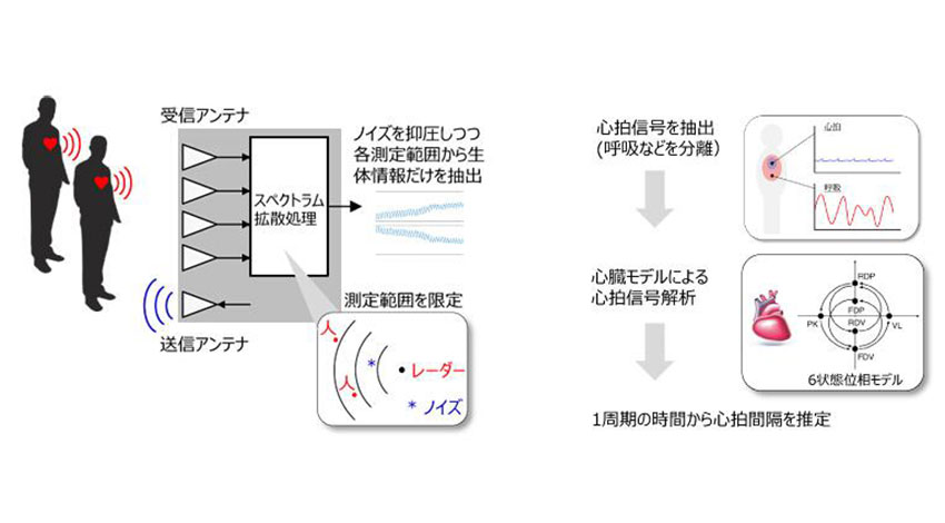京大とパナソニック、非接触ミリ波バイタルセンサーの小型・高感度化に成功