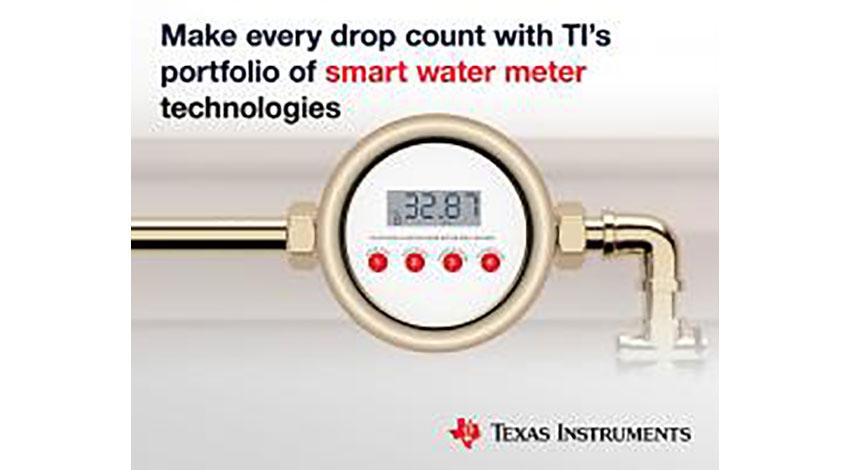 テキサス・インスツルメンツ、スマート水量計向け超音波センシング・マイコン「MSP430」の新しい製品ファミリを発表