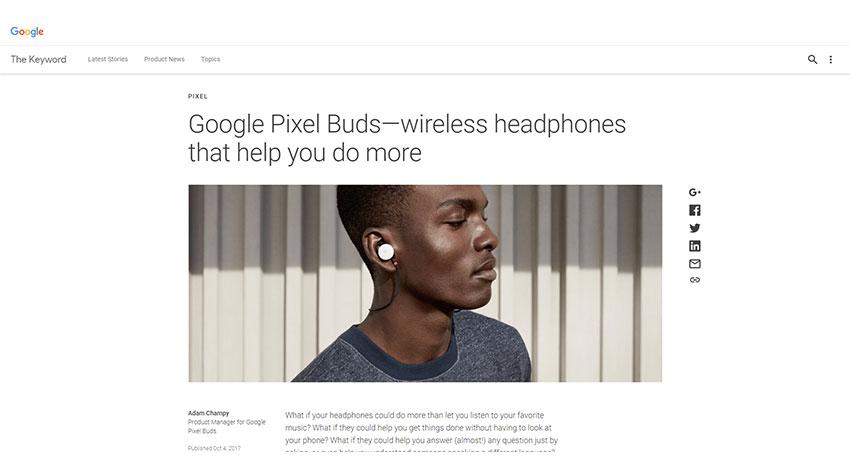 Google、40ヵ国語をリアルタイム翻訳できるワイヤレスイヤホン「Google Pixel Buds」を発表