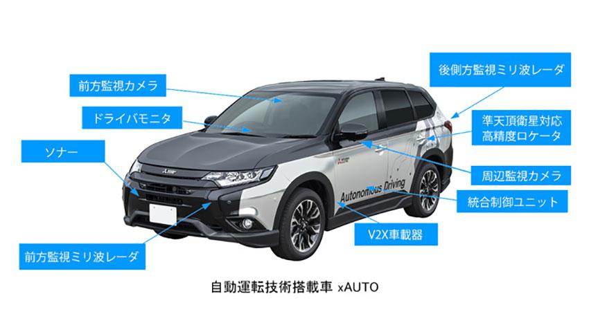 三菱電機、自動運転技術搭載車「xAUTO」の実証実験を高速道路で実施