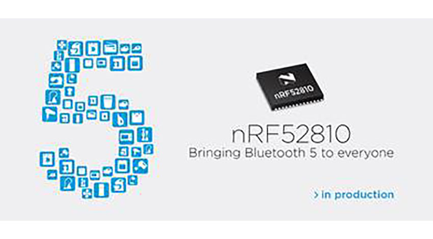 Nordic Semiconductor、Bluetooth 5によるワイヤレス接続を可能にするnRF52810 SoCを提供開始