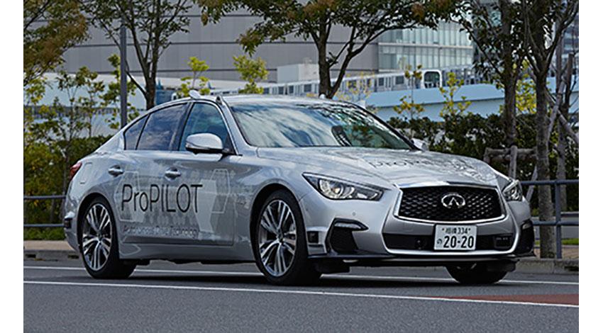 日産、自動運転技術「ProPILOT」搭載の実験車両で公道テストを開始
