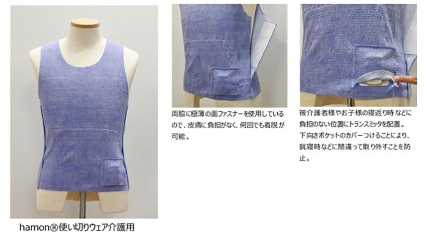 ミツフジ、ウェアラブルIoTブランド「hamon」の新製品として使い切りスマートウェアを発売