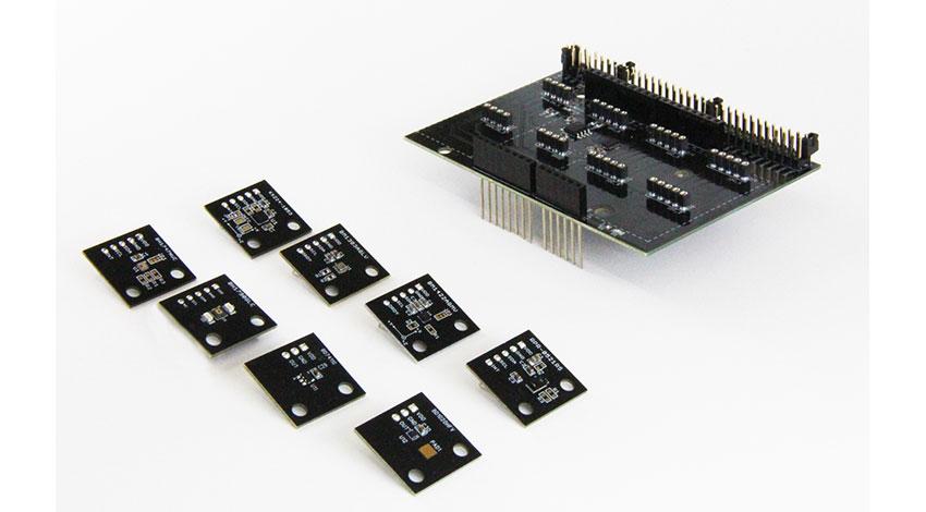 ローム、脈波など8種類のIoTセンサ環境を構築する拡張ボード「SensorShield-EVK-002」を販売開始