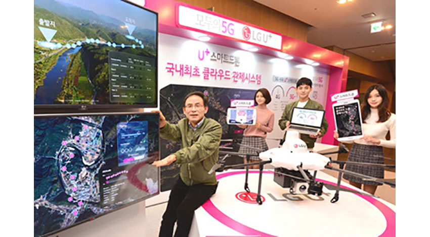 テラドローンと韓国のLGU+、クラウド型ドローン管制システムの事業化で協業