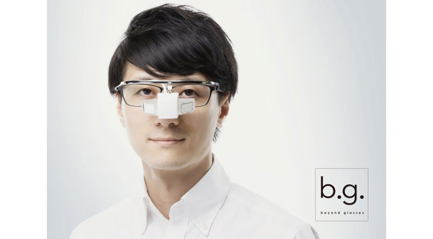 エンハンラボ、メガネ型ウェアラブル端末「b.g.(ビージー)」量産デザインを発表