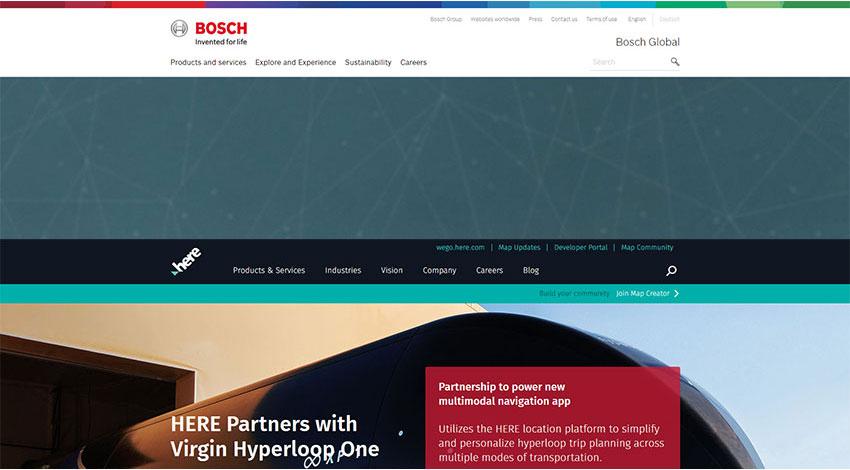 ボッシュがマッププロバイダーHEREと協業、焦点はオープンプラットフォームの提供