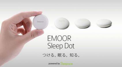 3.3センチの小型デバイスで睡眠状態を可視化、エムールの小型睡眠モニター「EMOOR Sleep Dot」