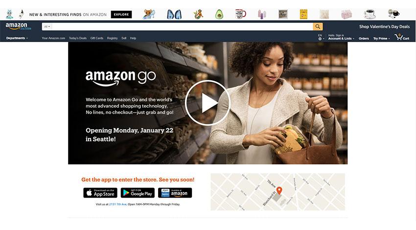 レジ会計がいらないコンビニ「Amazon Go」、シアトルでオープン