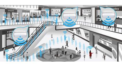 KDDIなど4社、IoTで顧客の来店状況を分析する実証実験を開始