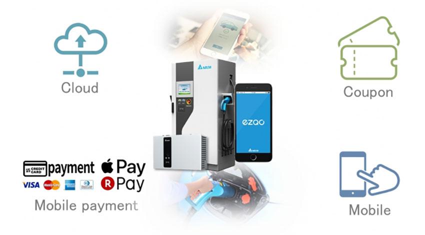 デルタ電子、IoT EV充電インフラプラットフォーム「EZQC」を発売開始