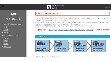 経産省・IoT推進ラボ、第5回「IoT Lab Selection」を開催、受賞者を選定・表彰
