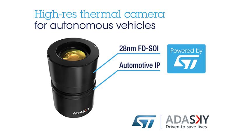 AdaSkyとSTマイクロエレクトロニクス、自動運転向け遠赤外線カメラ・ソリューションで協業