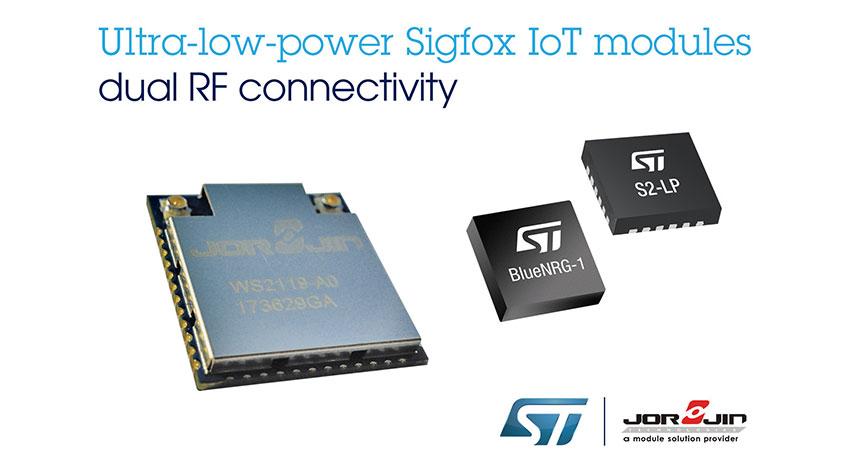 STマイクロエレクトロニクスとJorjin、デュアル無線通信が可能なSigfox互換の低消費電力IoTモジュールを発表
