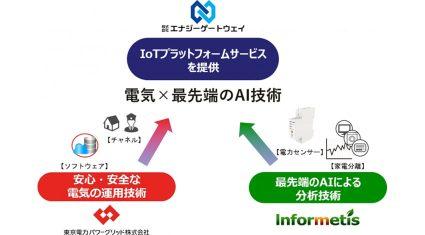 東電とインフォメティス、電力×機器分離技術によるIoTプラットフォーム事業を本格展開