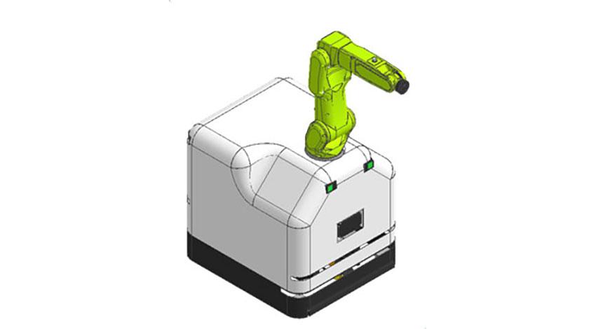 日立、ファナック製ロボットを搭載した産業用ロボット自律走行装置「HiMoveRO」を販売
