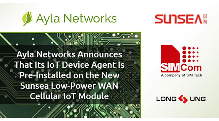 サンシーの新しいセルラーLPWA通信モジュール、Ayla NetworksのIoTプラットフォームに対応
