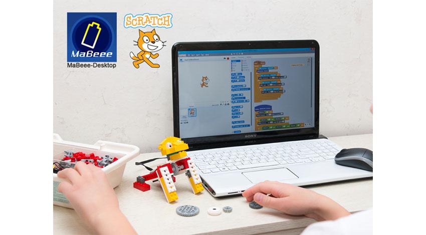 ノバルスの乾電池型IoTデバイス「MaBeee」が、教育用プログラミングソフト「Scratch」に対応