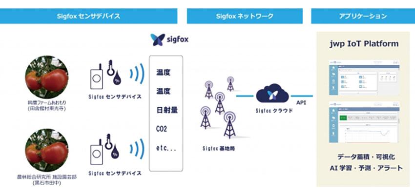 jwp、「Sigfox」を活用したビニールハウス環境管理ソリューションの実証実験を青森県で開始