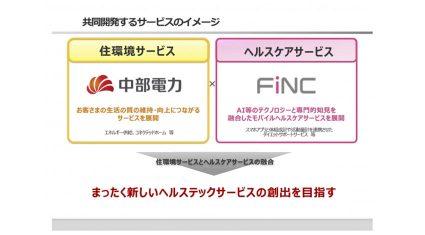 中部電力とFiNC、ヘルスケア領域のAI・IoTサービスを共同開発