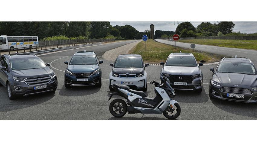 クアルコム・BMW・Ford・PSA・Savari、複数自動車メーカー間でセルラーV2X直接通信の相互運用デモ実施を発表