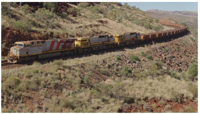 リオ ティント、自律運行列車による鉄鉱石の輸送を実施