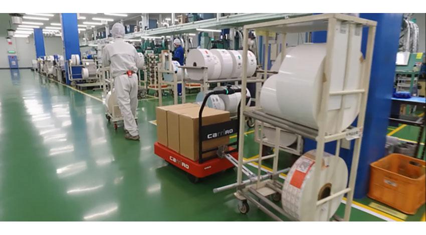 ZMPの物流支援ロボット「CarriRo」、工場での運搬業務効率化へ導入