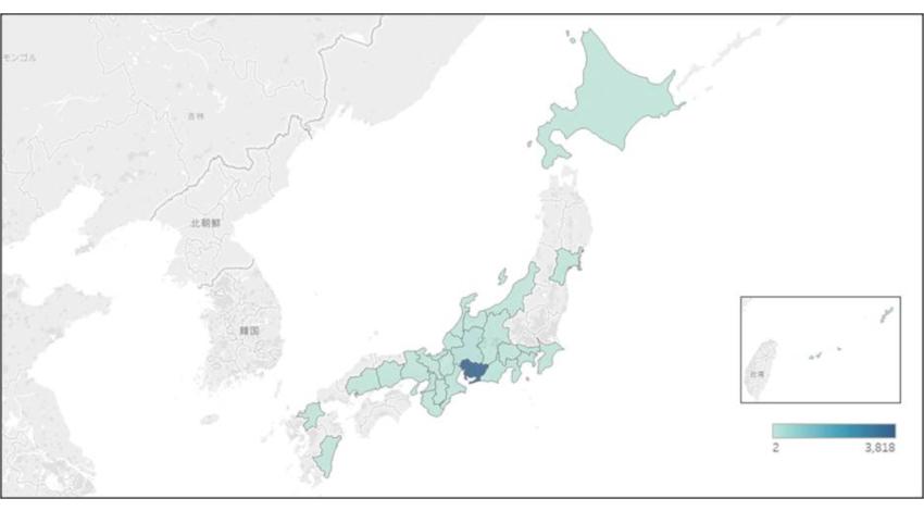 NTTアドとNTTドコモ、訪日外国人動態情報を使った「47都道府県基礎分析レポート」の一部を公開