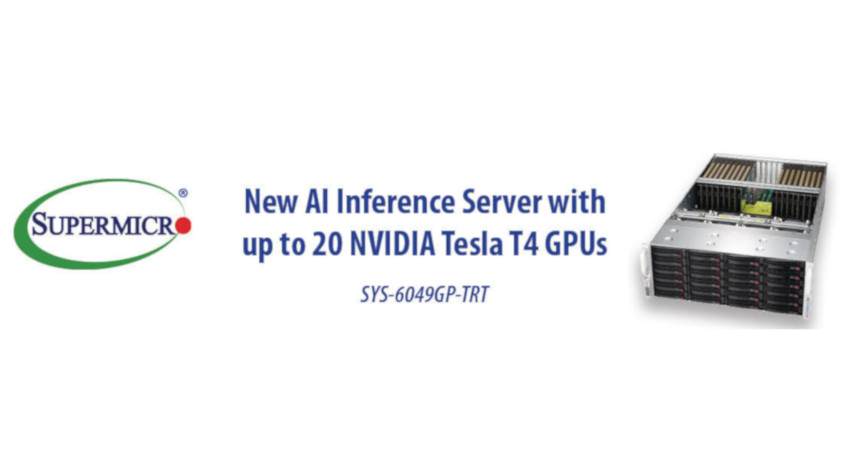 Supermicro、AI推論に最適化した新しいGPUサーバーを発表