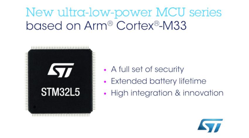 STマイクロエレクトロニクス、IoT機器のセキュリティ強化する超低消費電力マイコン「STM32L5」発表