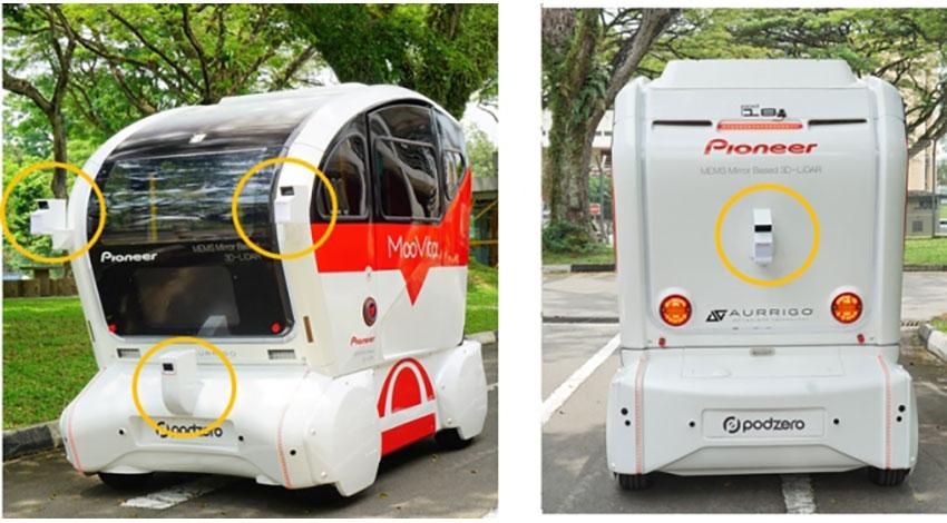 パイオニアの「3D‐LiDARセンサー」を搭載した自動運転バス、シンガポールで実証実験を開始