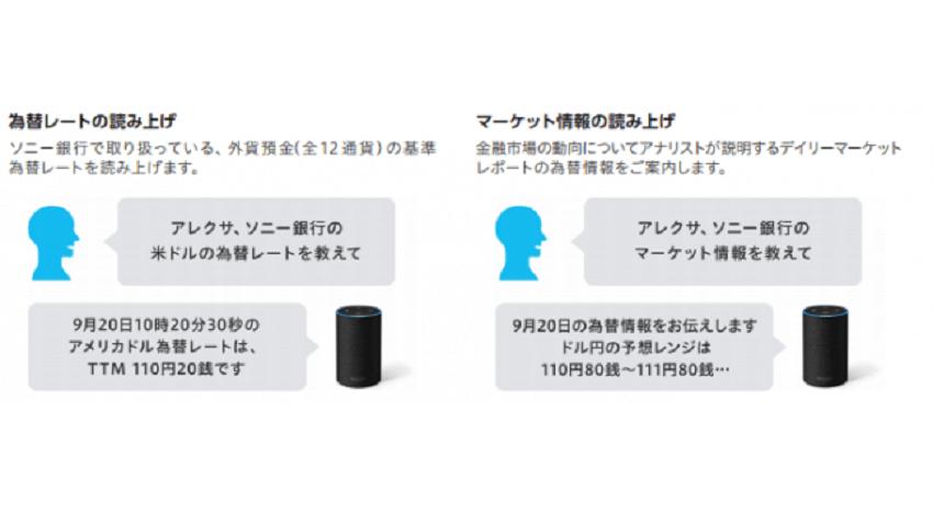 ソニー銀行、AmazonAlexaスキル 提供開始