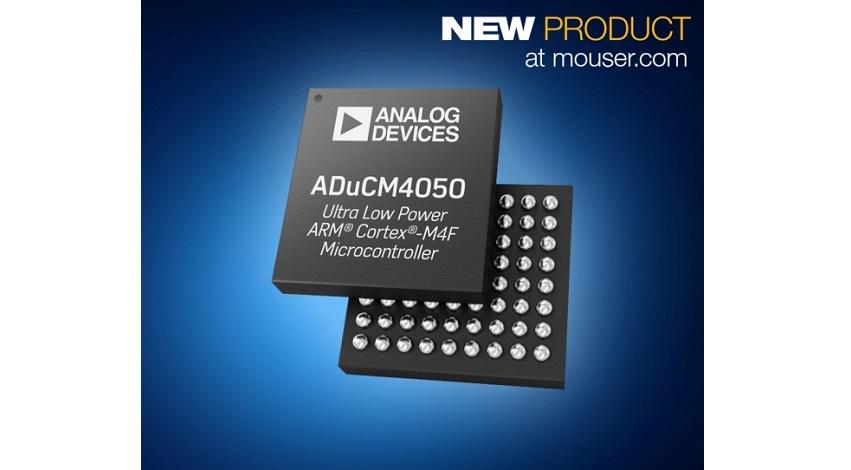 マウザー、IoTエッジノードでの電力消費を大幅に低減する、アナログ・デバイセズ社のマイクロコントローラADuCM4050の販売を開始