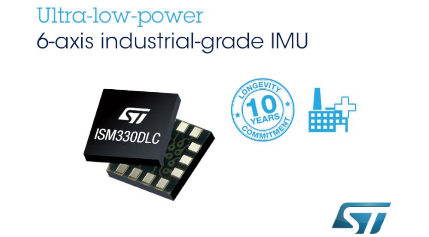 STマイクロエレクトロニクス、産業機器向け低消費電力MEMSセンサを拡充する6軸モーション・センサを発表