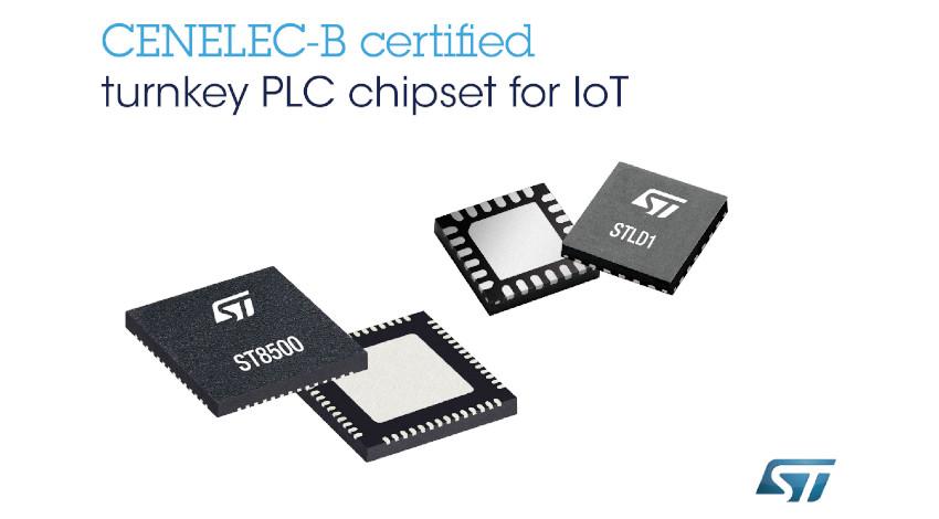 STマイクロエレクトロニクス、スマートシティ・再生可能エネルギー制御など向けの通信プロトコル対応電力線通信チップセットを発表