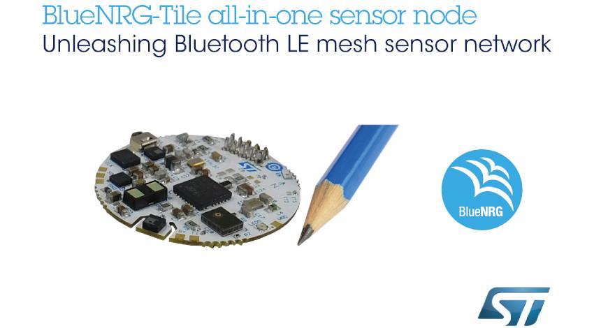 STマイクロエレクトロニクス、センサ・フュージョン、音声入力、Bluetooth 5.0メッシュ通信対応のコイン型IoT端末開発ボードを発表