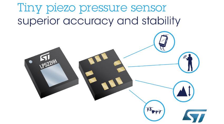 STマイクロエレクトロニクス、較正時間を削減、制御機能を強化する小型MEMS大気圧センサを発表