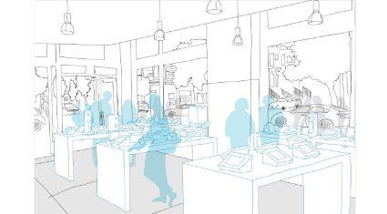 COUNTERWORKS、店舗運営SaaS化の実証実験を表参道で開始