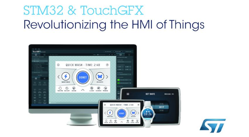 STマイクロエレクトロニクス、STM32マイコン使用のIoT機器開発者向けにGUI開発用無償ソフトウェアを追加