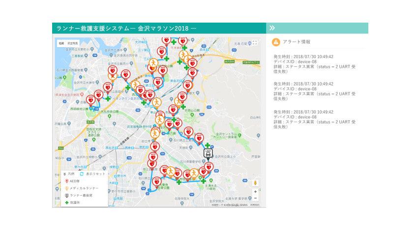 神戸デジタル・ラボ、金沢マラソンでSigfox通信を使用したIoT機器とランナー救護支援システムの検証