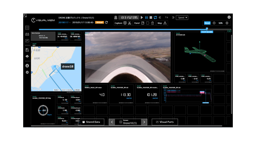 オプティムとNTTドコモ、固定翼型ドローンとLTE活用した目視外長距離飛行での広域リアルタイム映像伝送の実証実験を実施