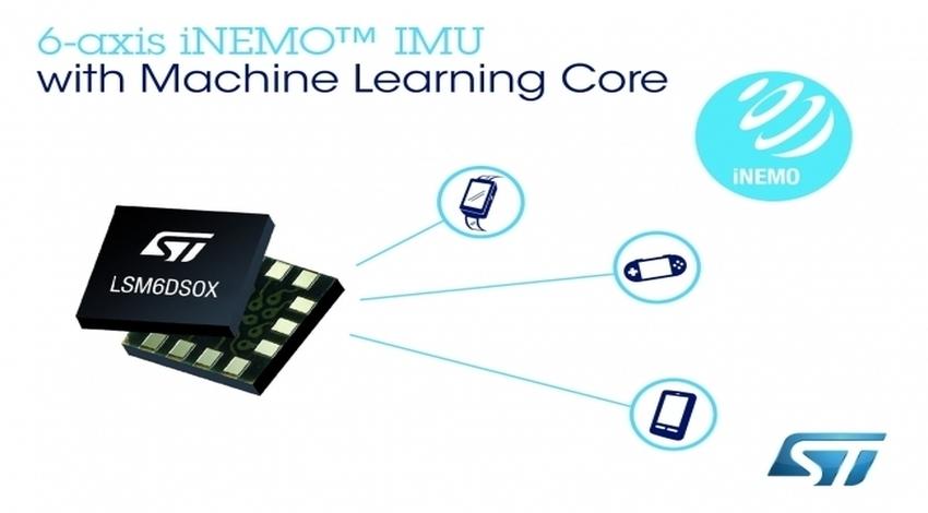STマイクロエレクトロニクス、機械学習機能を持つ高精度・低消費電力モーション・センサを発表