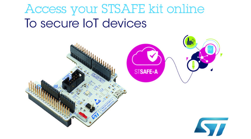 STマイクロエレクトロニクス、ソフトウェア付属のIoT機器向けセキュア・エレメント評価キットを発表