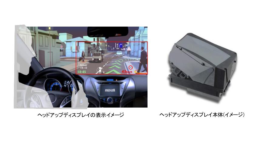 マクセル、独自の自由曲面光学技術を活用した車載向けARヘッドアップディスプレイを製品化