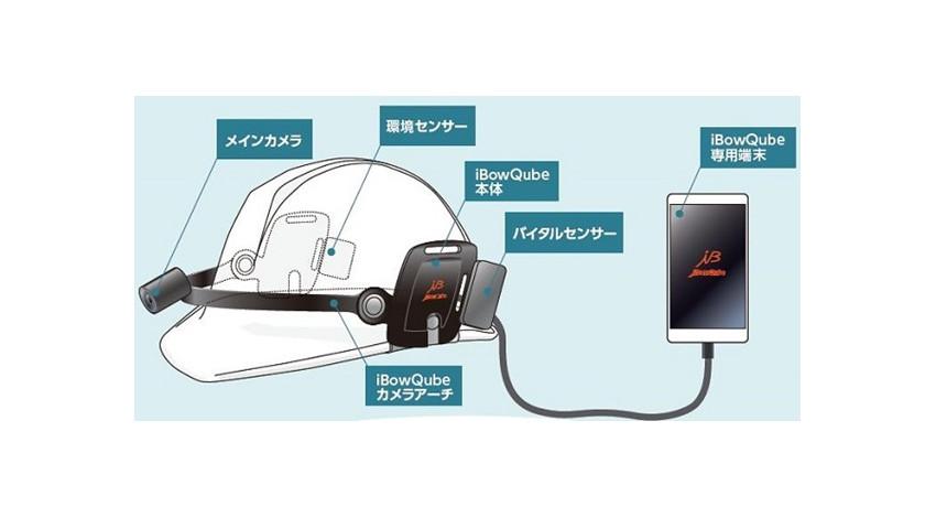 クオリカ等、ヘルメットマウント型ウェアラブルデバイス「iBowQube」で遠隔操作等の実証実験を開始